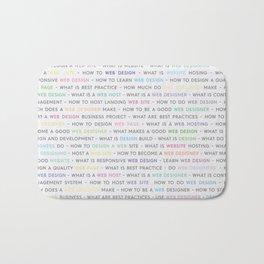 Colored Web Design Keywords Poster Bath Mat