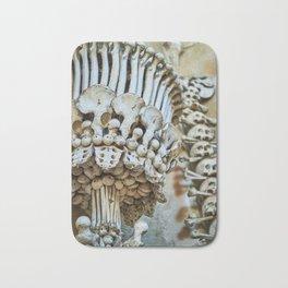 Sedlec Ossuary Chalice Photo Art Print, Bone Church Bath Mat