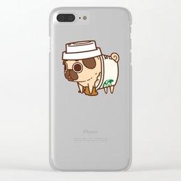 Puglie Pugkin Spice Latte Clear iPhone Case