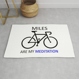 Miles Are My Meditation Rug