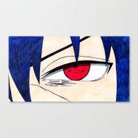 sasuke Canvas Prints featuring Sasuke by DeMoose_Art