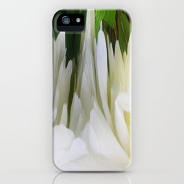 501 - White Peony Abstract iPhone Case