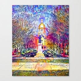 Father Sorin Statue on Notre Dame Main Quad Canvas Print