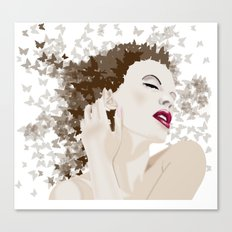kylie and the butterlies  Canvas Print