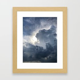 Storm Over Lake Michigan Framed Art Print