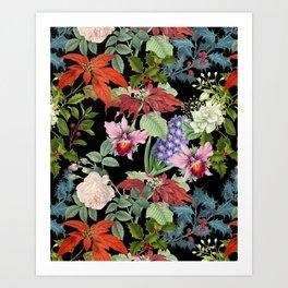 WINTER GARDEN - Black  Art Print