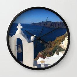 Oia, Greece (photo) Wall Clock