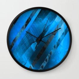 Free Floating Pattern (blue) Wall Clock