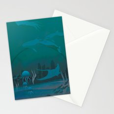 THE DOME - Fantasy | Animals | underwater | Ocean | Sci-fi | Whales | Ocean  Stationery Cards