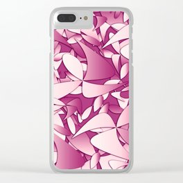 Pattern pink 4 Clear iPhone Case