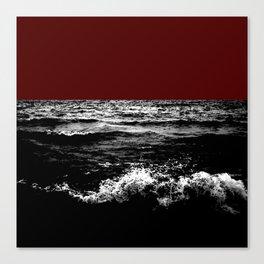Black Wave w/Dark Red Horizon Canvas Print