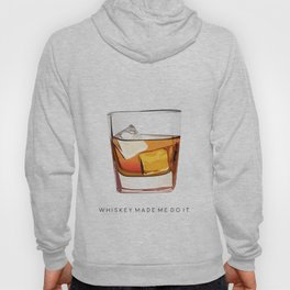 Alcohol Poster,Funny Poster Whiskey Art,Make Mine a Double,Alcohol Gift,Whiskey Cocktail,Inspiring Hoody