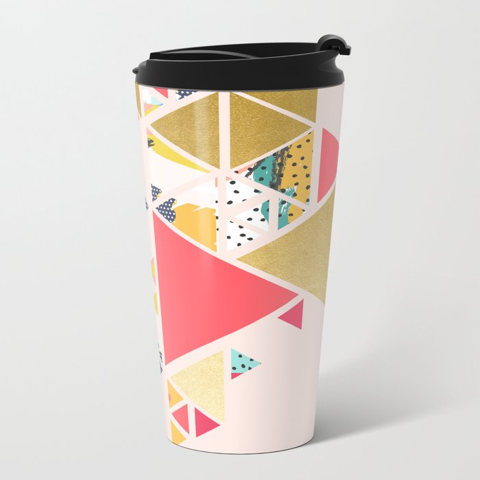 Gold Abstraction #society6 #decor #buyart Metal Travel Mug