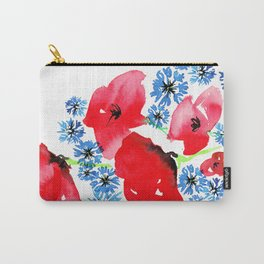 Poppy Floral Carry-All Pouch