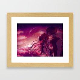 Jerza - Scarlet Sky Framed Art Print