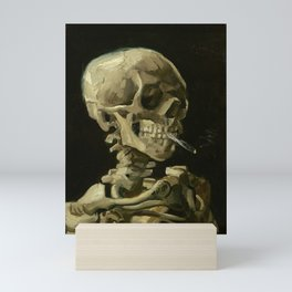 Vincent van Gogh - Skull of a Skeleton with Burning Cigarette Mini Art Print