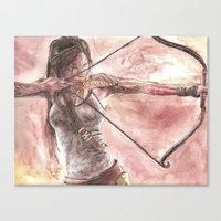tomb raider Canvas Prints featuring Tomb Raider by LK'sArts