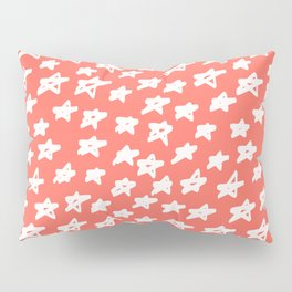 Stars Living Coral Pillow Sham