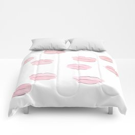 Pink Lips Pattern Comforters