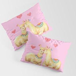 Llamas in llove 2 Pillow Sham