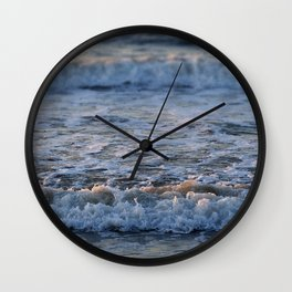 Late Summer Waves Wall Clock