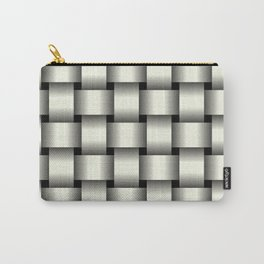 Large Ivory Weave Carry-All Pouch