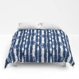 Shibori Stripes Indigo Blue Comforters