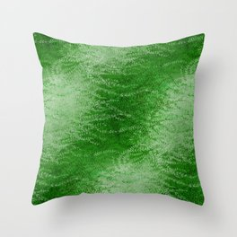 Wind-whipped Vines (green II) Throw Pillow