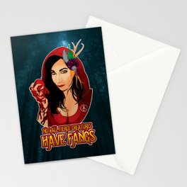 Not All Fierce Creatures Have Fangs Stationery Cards