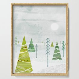 Christmas Forest Serving Tray