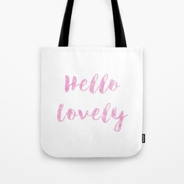 Hello Lovely Watercolor Tote Bag
