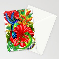 The Lizard, The Hummingbird and The Hibiscus Stationery Cards