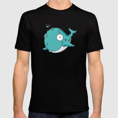 Whale Mens Fitted Tee Black MEDIUM