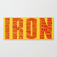 ironman Canvas Prints featuring IRONman  by Kramcox