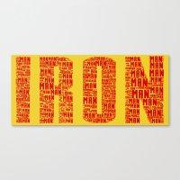 ironman Canvas Prints featuring IRONman  by Rachcox