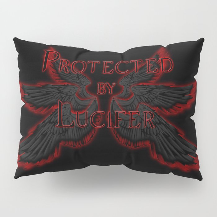 Protected by Lucifer Dark Pillow Sham