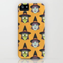 Good Witch VS Bad Witch (Patterns Please) iPhone Case