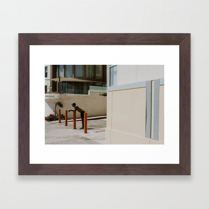 Work Out Man Framed Art Print