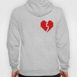 broken pixel heart Hoody