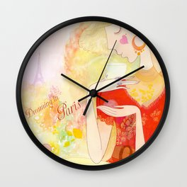 Dreaming in Paris  Wall Clock