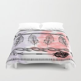 Tribal Feathers Duvet Cover
