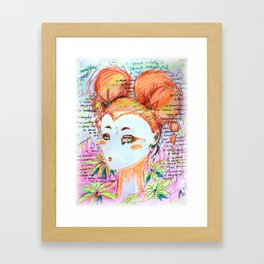intrusive thoughts Framed Art Print