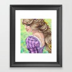 Rapunzel Portrait Framed Art Print