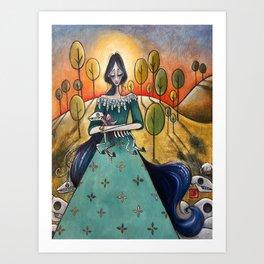 Mary Had a Little Lamb Art Print
