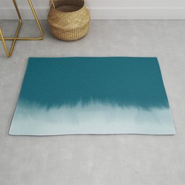 dark cyan watercolor Rug