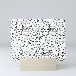 Snow Leopard Animal Print Mini Art Print
