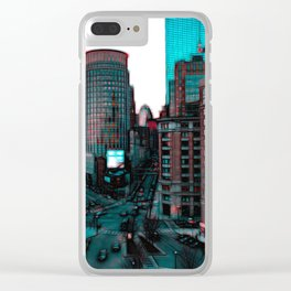 Downtown Boston Skyline Clear iPhone Case