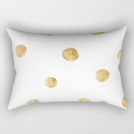 Cute yellow dot pattern painted on pastel background Rectangular Pillow