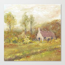 Impressionism Country Home Canvas Print