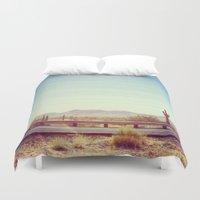 desert Duvet Covers featuring Desert by Whitney Retter